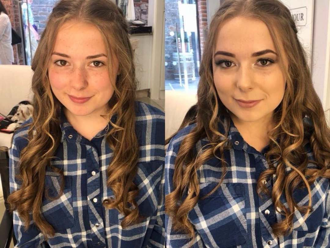 Stunning Hair & Makeup application for prom!